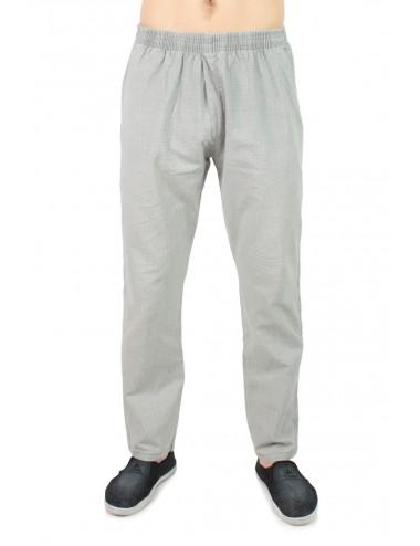Брюки мужские с карманами лен