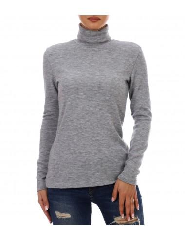 Водолазка женская ангора с лайкрой К78365 от Comfi серый меланж