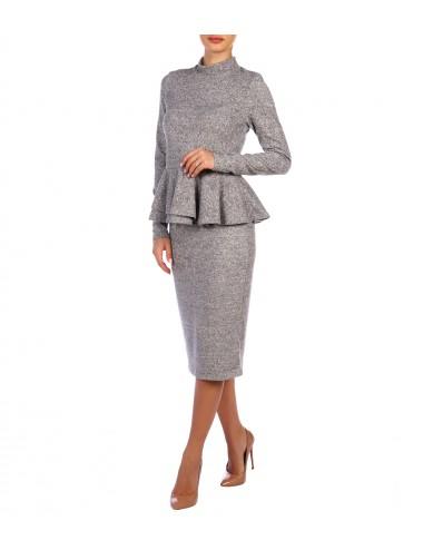 Блуза женская с воланом по низу К82511