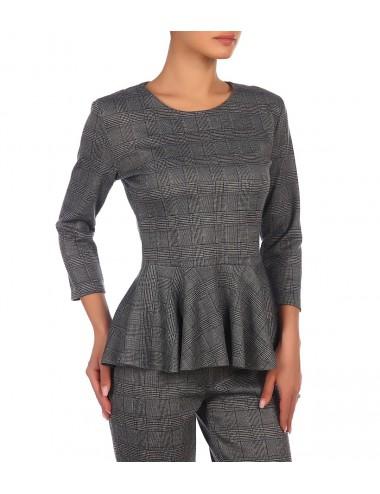 Блуза женская с воланом по низу К86515-17/09.2(1)