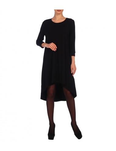 Платье женское расклешенное от проймы с фигурным низом П24523-06 черный от Comfi
