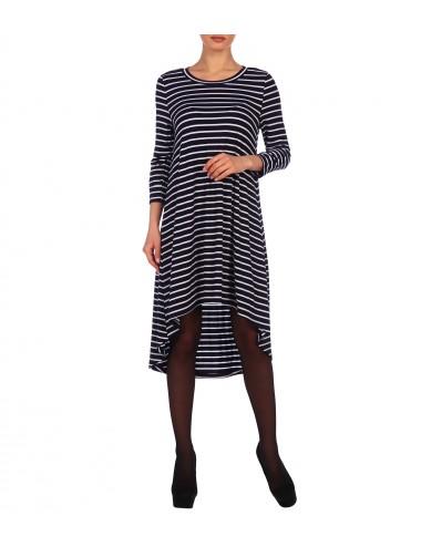 Платье женское расклешенное от проймы с фигурным низом П24523-09/07.12 полоска от Comfi