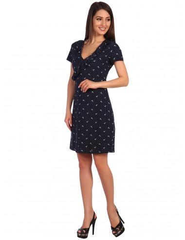 Платье женское с воланами по горловине П51532-09/46.29 от Comfi