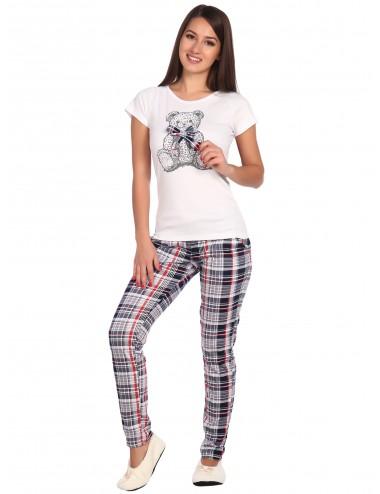 """Костюм женский футболка """"Мишка с бантом"""" и брюки от Comfi"""