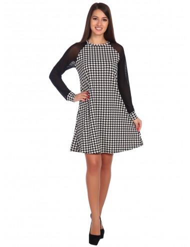 SALE Платье женское с рукавами реглан из сетки