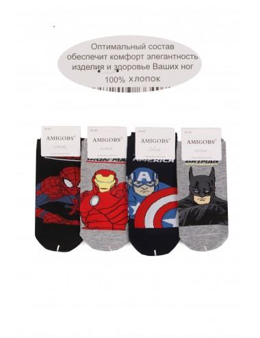 Носки подростковые на мальчика Люди в черном, Человек-паук