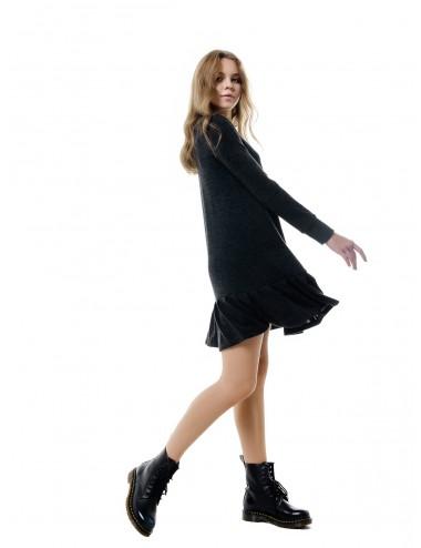 Платье женское с оборой по низу от Comfi графит