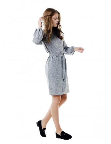 SALE Платье женское на обтачке с объемными рукавами и поясом от Comfi