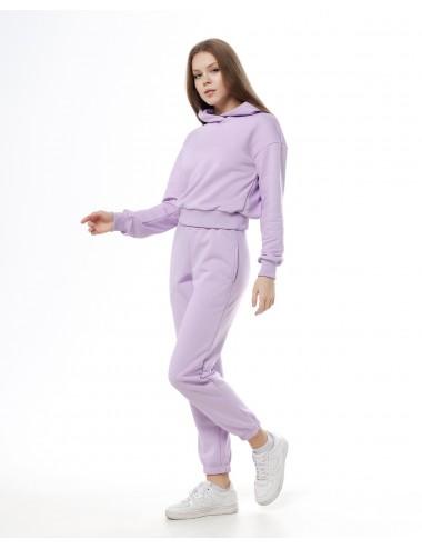 Костюм Лаванда: брюки + укороченное худи