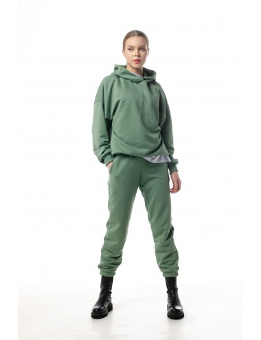 Костюм Олива: брюки + худи