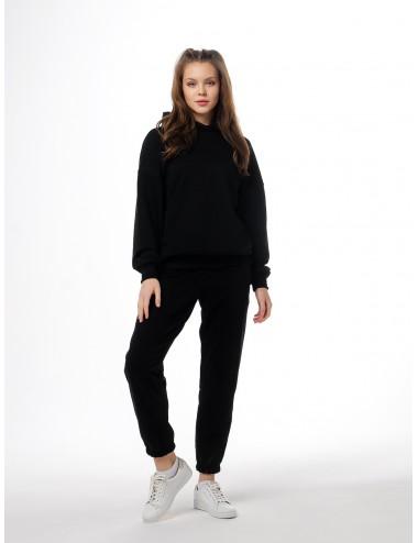 Костюм черный: брюки + худи