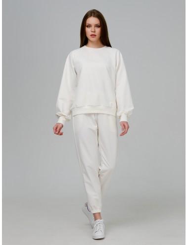Костюм Молочный: брюки + свитшот