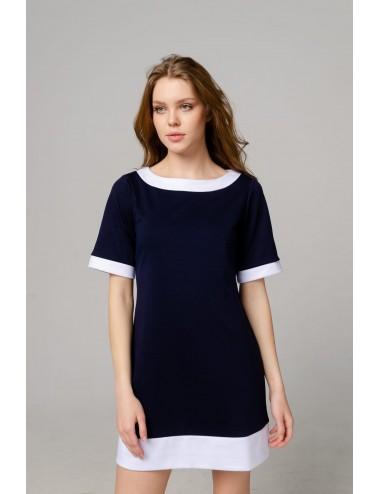 SALE Платье женское с контрастной отделкой