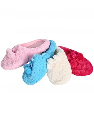 Тапочки женские (пушистый текстиль)