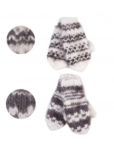 Детские перчатки с заячьим пухом